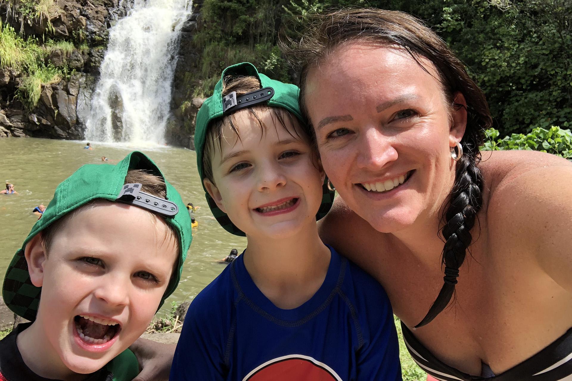 Lindsay and the boys backyard pools bio