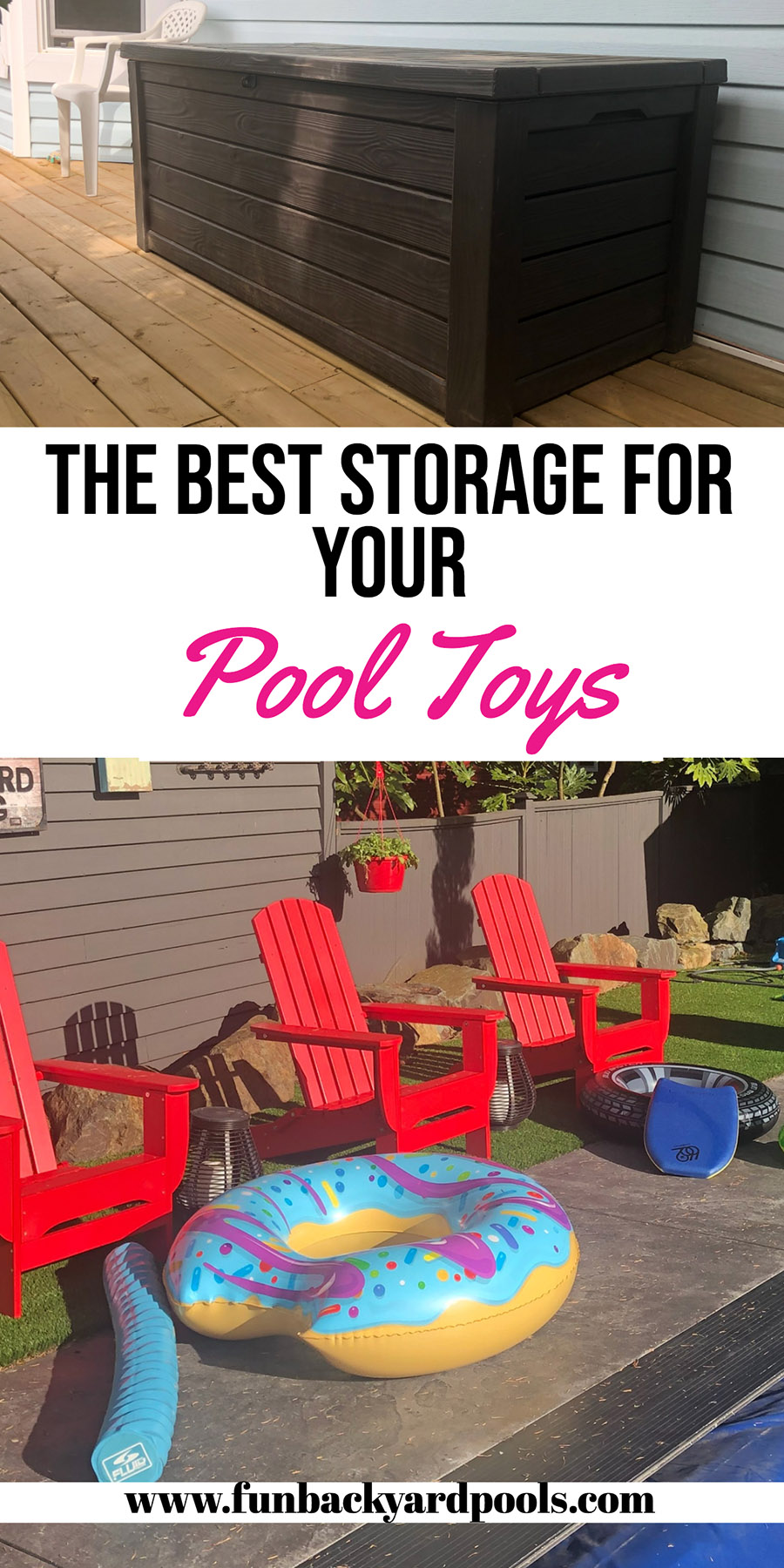 Best pool toy storage boxes